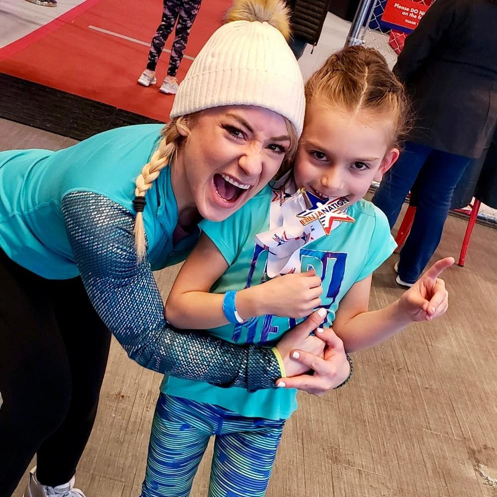 Ninja coach with ninja kid who won competition Grand Junction